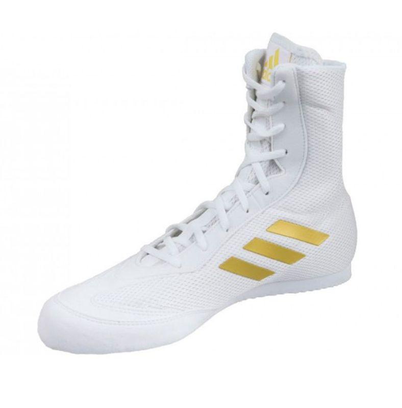 Chaussures de boxe Adidas Hog Box 2 Plus New Blanc doré