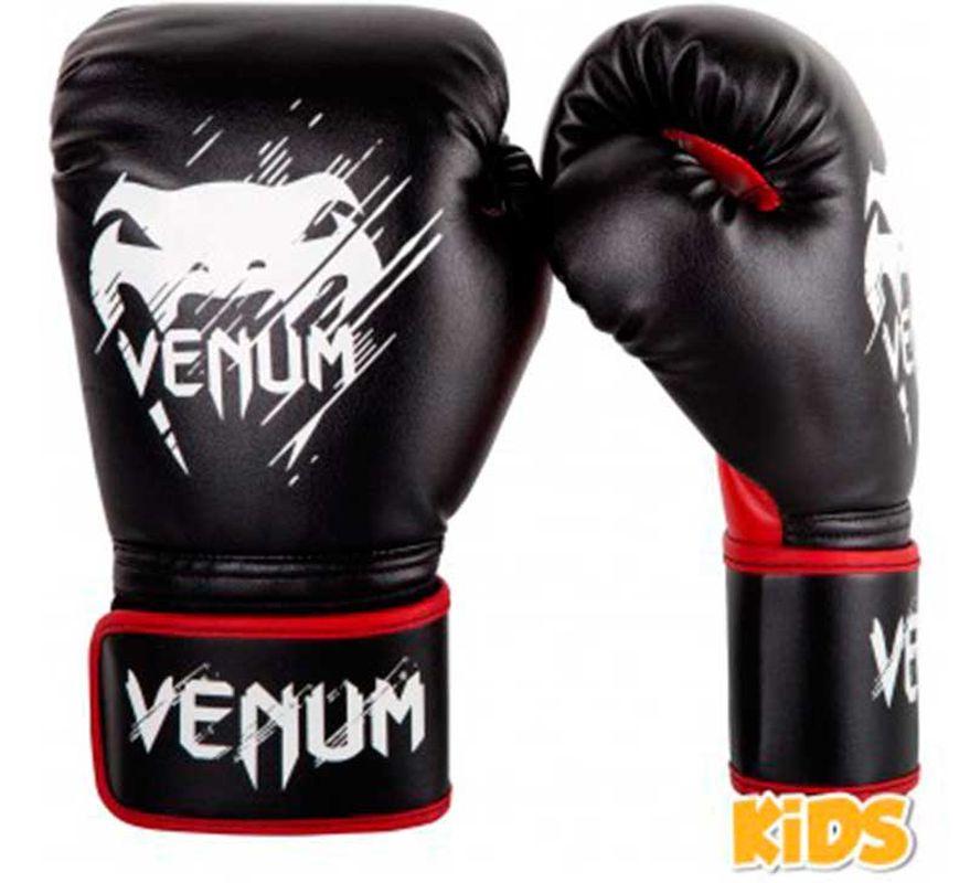 gants de boxe venum contender enfant noir rouge. Black Bedroom Furniture Sets. Home Design Ideas