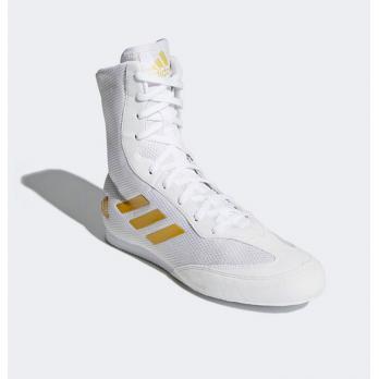 Chaussures de boxe Adidas Hog Box 2 Plus New Blanc / doré