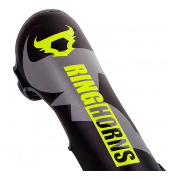 Protège TibiasRinghorns Charger Black Neo Yellow By Venum