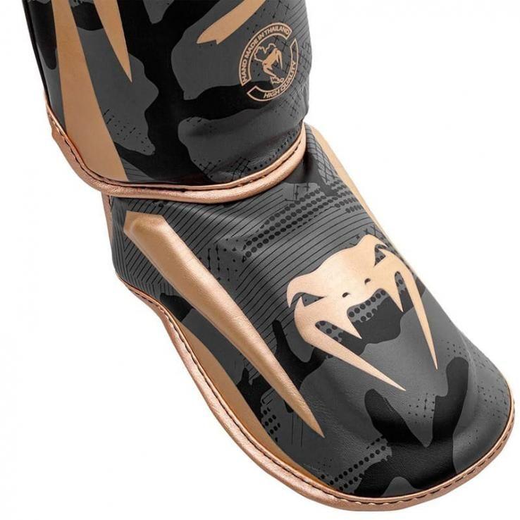 Protège TibiasVenum Elite Dark Camo / Gold