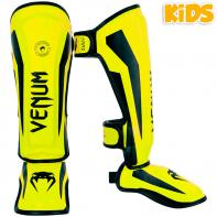 Protège Tibias Venum Kids Elite neo yellow