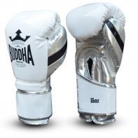 Gants de boxe Buddha Bushwhacker cuir verni blanc