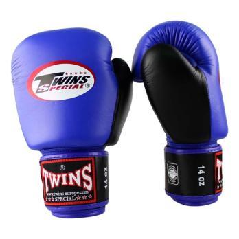 Gants de boxe Twins BGVL 3 Retro Bleu / Noir