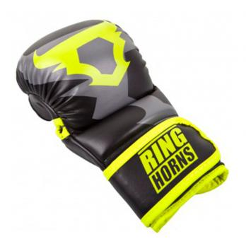 Gants de MMA Ringhorns Sparring Charger noir Neo Yellow By Venum