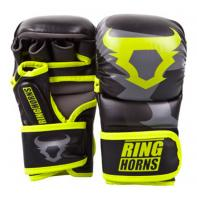 Gants de MMA Ringhorns Sparring Charger noir Neo Yellow By Venum