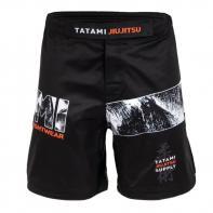 Short MMA Tatami Tropic Black Grappling Shorts