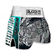 Short Muay Thai Buddha Retro Dark Angels