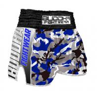 Short Muay Thai Buddha  Retro Army