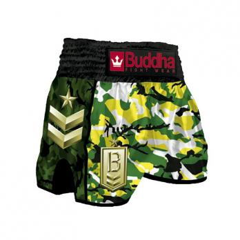Short Muay Thai Buddha  Retro Army Jungle