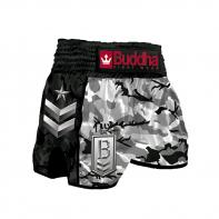 Short Muay Thai Buddha  Retro Army Shadow