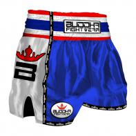 Short Muay Thai Buddha  Retro bleu