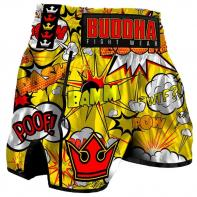 Short Muay Thai Buddha Retro Baam yellow Kids