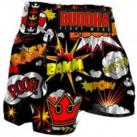 Short Muay Thai Buddha Retro Baam black Kids
