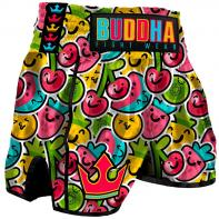 Short Muay Thai Buddha Retro Fruit Kids
