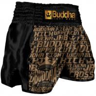 Short Muay Thai Buddha Retro Golden