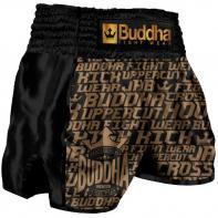 Short Muay Thai Buddha Retro Golden