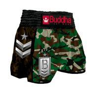 Short Muay Thai Buddha  Retro Army Green Classic