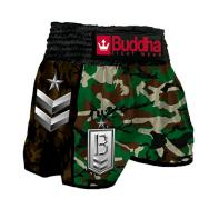 Short Muay Thai Buddha  Retro Army Green Classic enfants