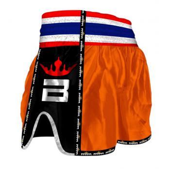 Short Muay Thai Buddha  Retro Orange