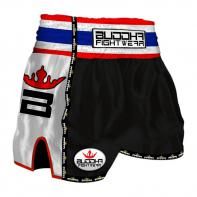 Short Muay Thai Buddha  Retro noir