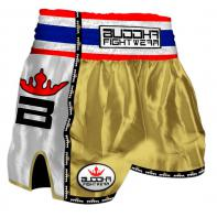 Short Muay Thai Buddha Retro Gold