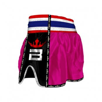 Short Muay Thai Buddha  Retro rose