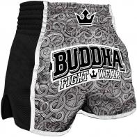 Short Muay Thai Buddha Retro Tattoo