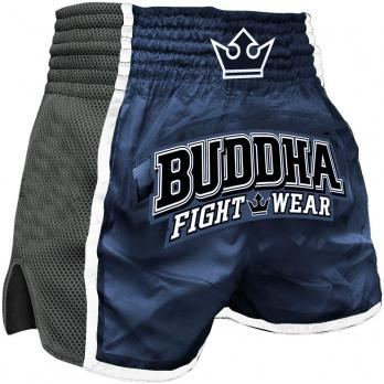 Short Muay Thai Buddha Retro X Bleu