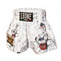 Short Muay Thai Leone Ramón Jr Kids Blanc