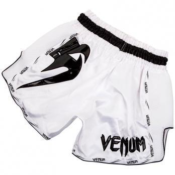 Short Muay Thai Venum Giant Blanc / Noir