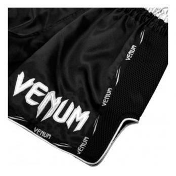 Short Muay Thai Venum Giant  black Blanc