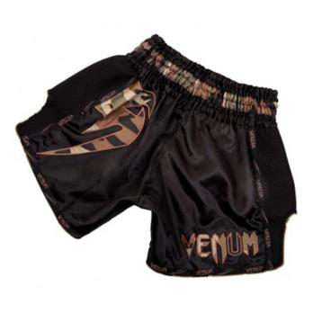 Short Muay Thai Venum Giant  black Forest Camo
