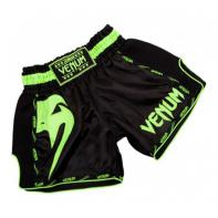 Short Muay Thai Venum Giant  black Neo Yellow