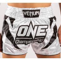 Short Muay Thai Venum X One FC white / black