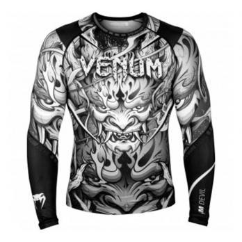Rashguard Venum Devil Blanc/Noir  l/s