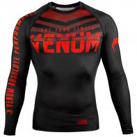 Rashguard Venum Signature l/s Noir / Rouge