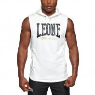 Hoodie Leone Logo white