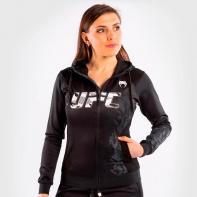 Venum X UFC Sweat à capuche zippé Authentic Fight Week pour femme Noir