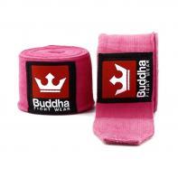 Bandes de boxe Buddha 4,5 m Rosa semi-élastique