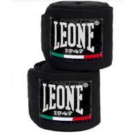 Bandes de boxe Leone 3,5 m semi-élastiques Noir